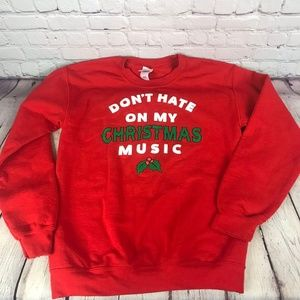Gildan Don't Hate On My Christmas Music Sweater